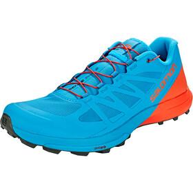 Salomon M's Sense Pro 3 Shoes Fjord Blue/Cherry Tomato/Urban Chic